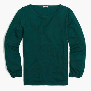 🌟NWT J. Crew Emerald Green Top medium
